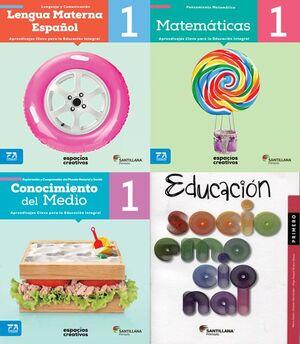 PACK 1 LENGUA MATE ESPAÑOL, MATEMÁTICAS, CONO MED. SOCIOEMOCIONAL