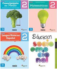 PACK 2 LENGUA MATE ESPAÑOL, MATEMÁTICAS, CONO MED. SOCIOEMOCIONAL