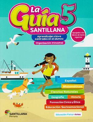 PACK GUÍA SANTILLANA 5 PRIMARIA + SOCIOEMOCIONAL+ DETECTIVES + ALAS DE PAPEL