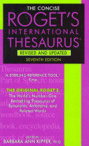 ROGETS INTERNACIONAL THESAURUS