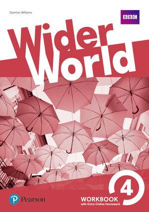 WIDER WORLD 4 WORKBOOK WITH ONLINE HOMEWORK PACK