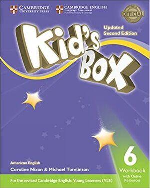 AMERICAN ENGLISH KID'S BOX 6 WORKBOOK WITH ONLINE RESOURCES EXAM UPDATE
