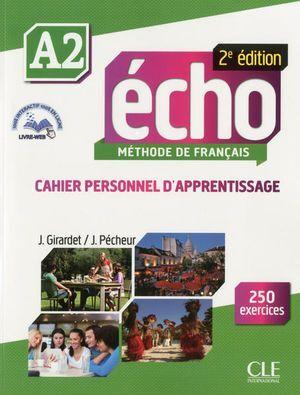 ECHO A2 CAHIER D APPRENTISSAGE + CD ET LIVRE WEB