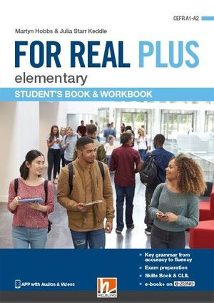FOR REAL PLUS ELEMENTARY STUDENTS BOOK & WORKBOOK + E-ZONE