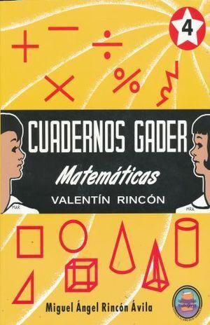 CUADERNOS GADER 4 MATEMÀTICAS