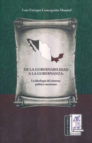 DE LA GOBERNABILIDAD A LA GOBERNANZA