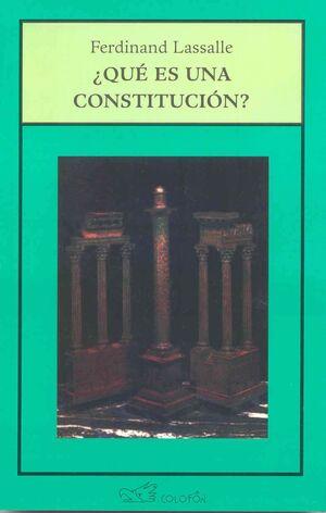 QUÉ ES UNA CONSTITUCIÓN?